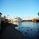 Wide shot of the boating lake at Grimsby by gracetalking