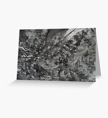 night-sky - the abstract Greeting Card