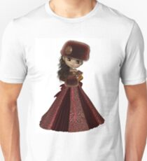 Toon Winter Princess in Red T-Shirt