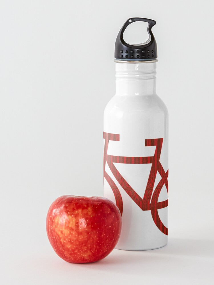 Alternate view of Red Faux Tulle Design Water Bottle