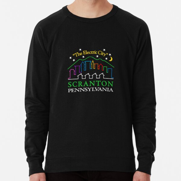 "Lazy Scranton ""The Electric City"" Lightweight Sweatshirt"