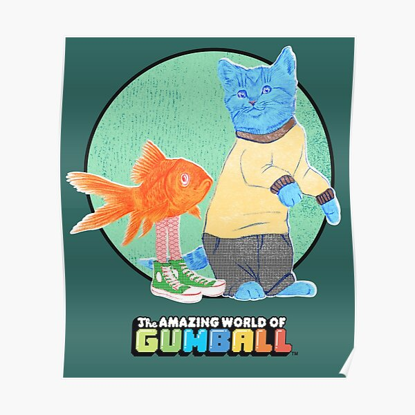 Real Gumball and Darwin Poster