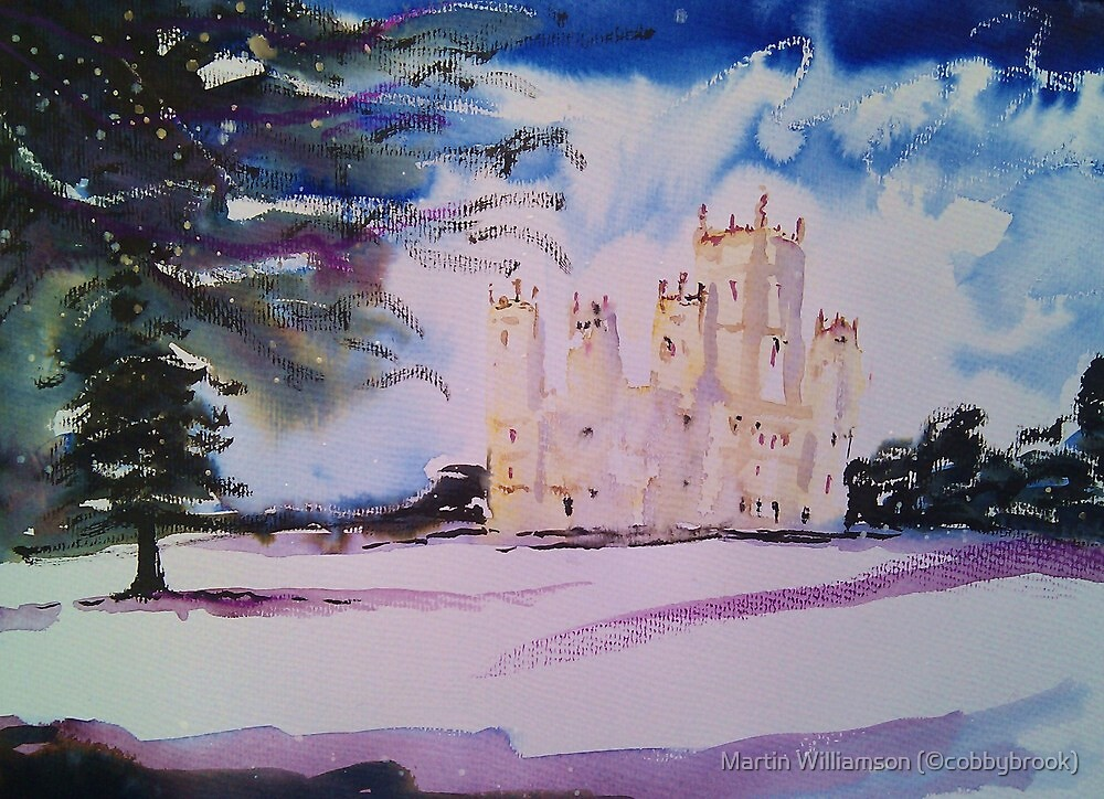 'Downton Abbey, Winter' by Martin Williamson (©cobbybrook)