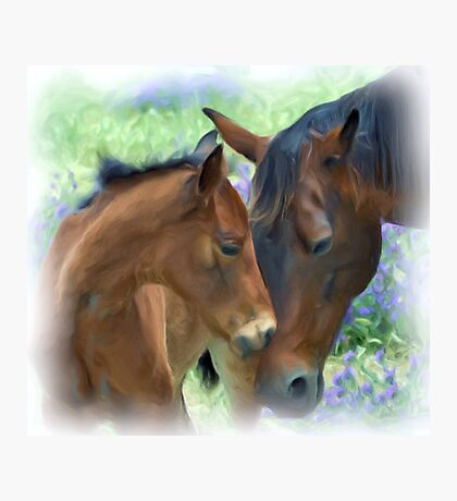 Mother and Daughter in Corel Painter Photographic Print
