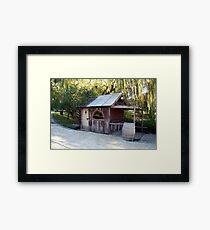 the saloon bar Framed Print