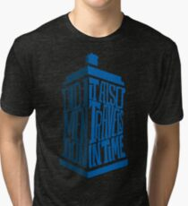 It also travels in time Tri-blend T-Shirt