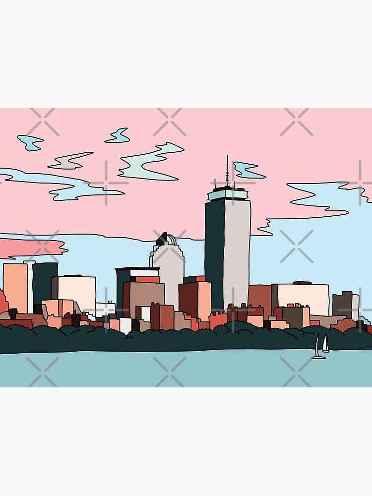 Boston skyline by Elebea by elebea