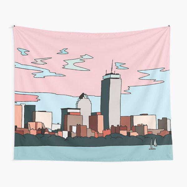 Boston skyline by Elebea Tapestry