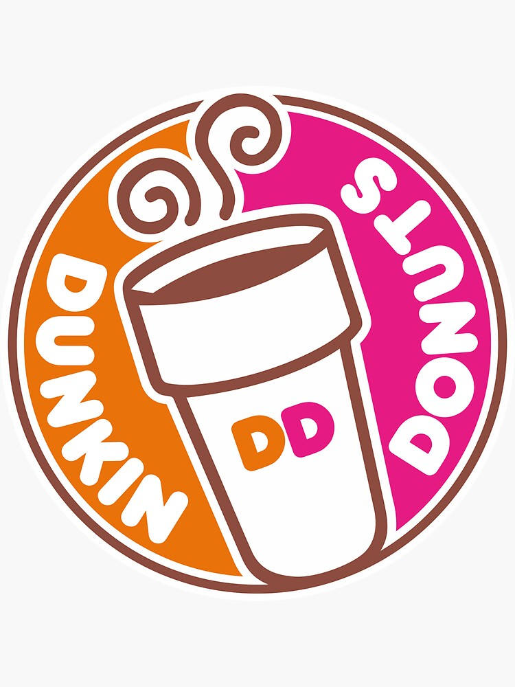 """""""Dunkin Donuts"""" Sticker by Micaly   Redbubble"""