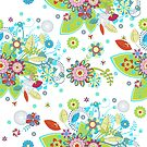 Colorful Abstract Floral Seamless Pattern by artonwear