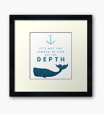 Depth of life Framed Print