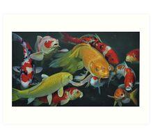 Oil painting:FISH Art Print