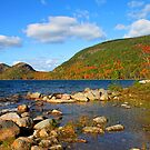 'Jordan Pond and the Bubbles, Fall Color' by Scott Bricker