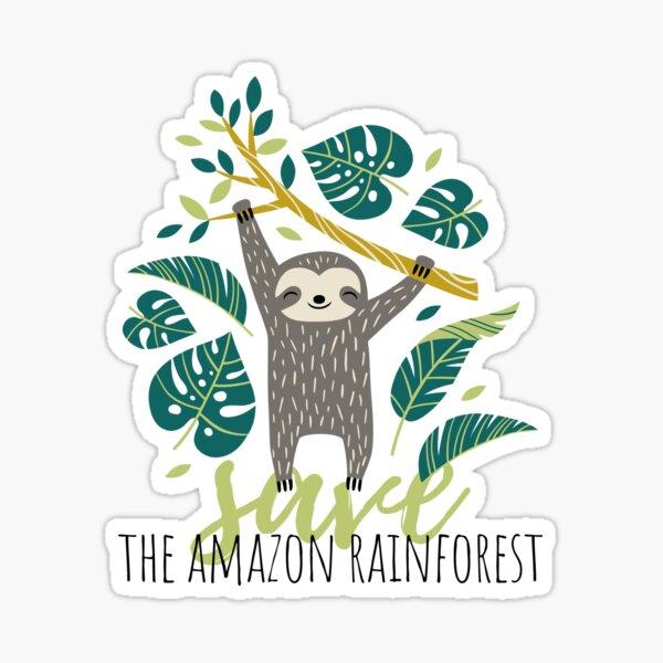 Save The Amazon Rainforest Sloth T-Shirt Sticker