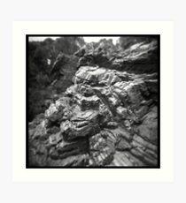 Stripey rocks Art Print