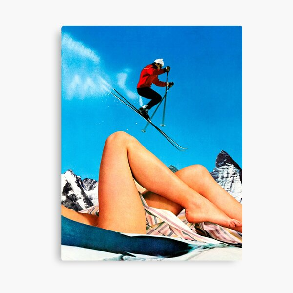 Skiing Time Canvas Print