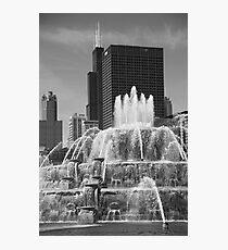 Chicago Skyline and Buckingham Fountain Photographic Print