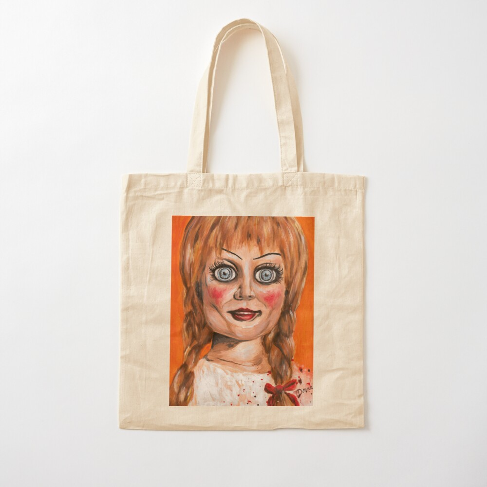Annabelle Doll Cotton Tote Bag