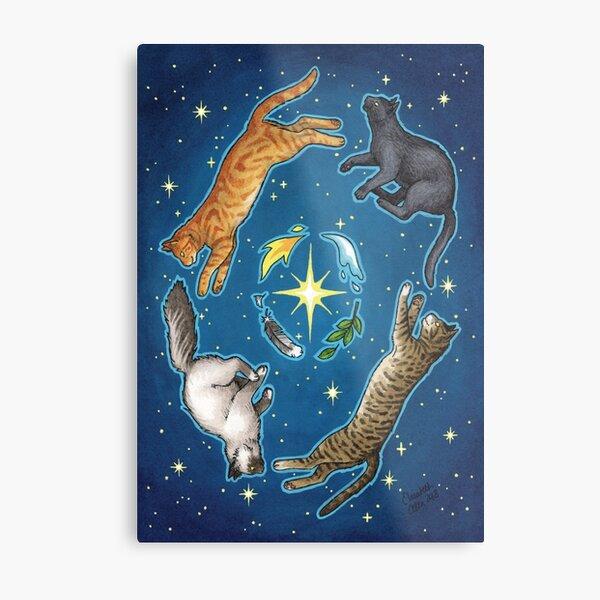 Elemental Cats Metal Print
