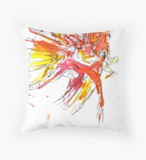 Splatter Lionfish Throw Pillow