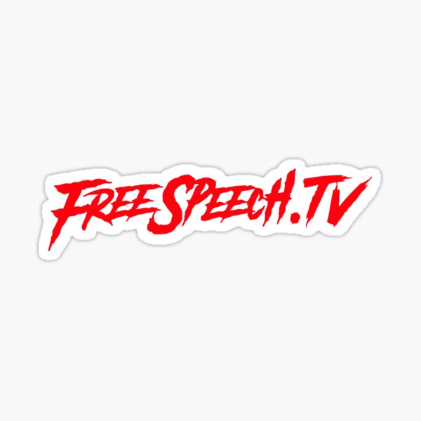 FreeSpeech.TV w/ Gavin McInnes Sticker