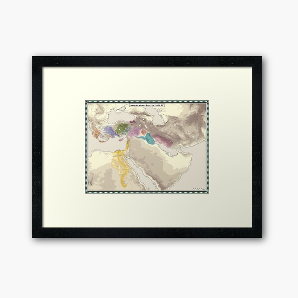 Ancient Middle East 1450 BC Framed Art Print