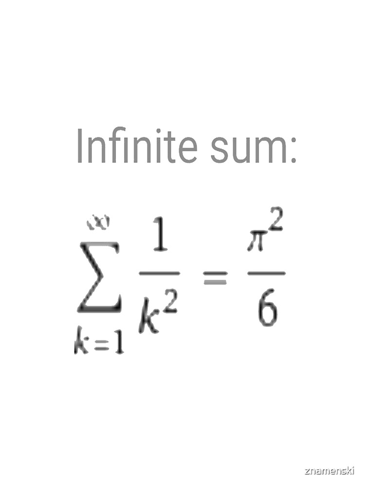 Series, Infinite Sum #infinitesum #infinite #sum #math mathematics formula pi calculus Π	π Σ by znamenski