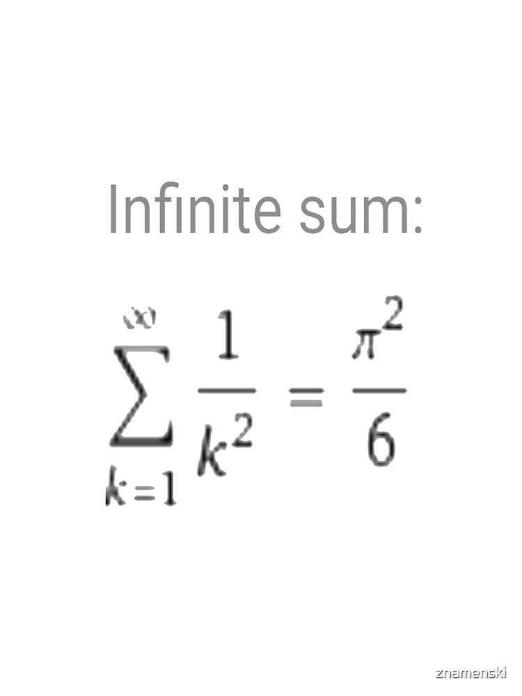 Series, Infinite Sum #infinitesum #infinite #sum #math mathematics formula pi calculus Ππ Σ by znamenski