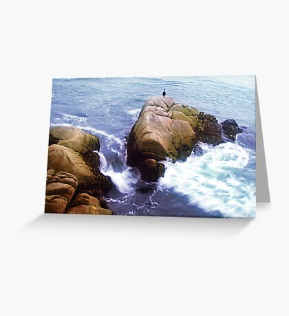 on the rocky shore you will find her.. still waiting for his return Greeting Card