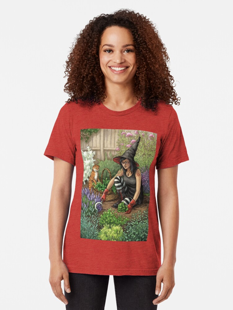 Alternate view of Everyday Witch Oracle - Seasonal Harvest Tri-blend T-Shirt