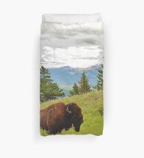 Spring Bison Duvet Cover