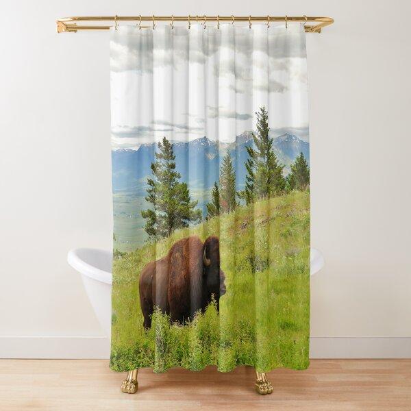 Spring Bison Shower Curtain