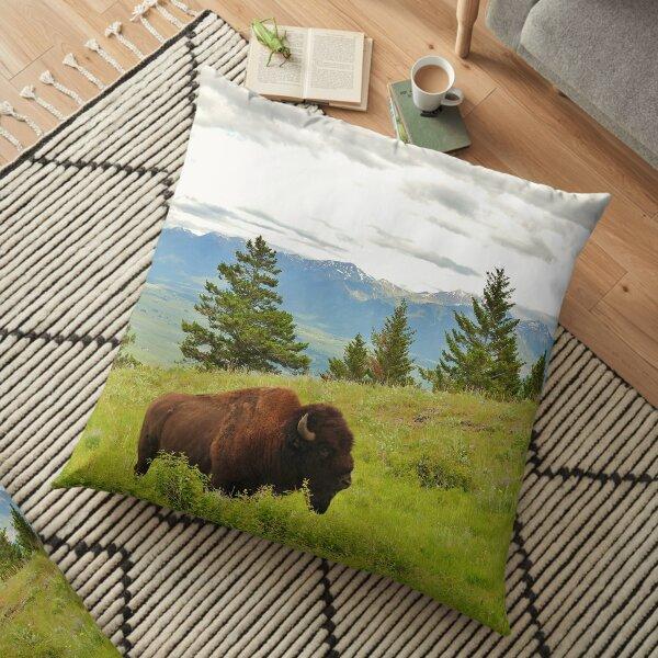 Spring Bison Floor Pillow