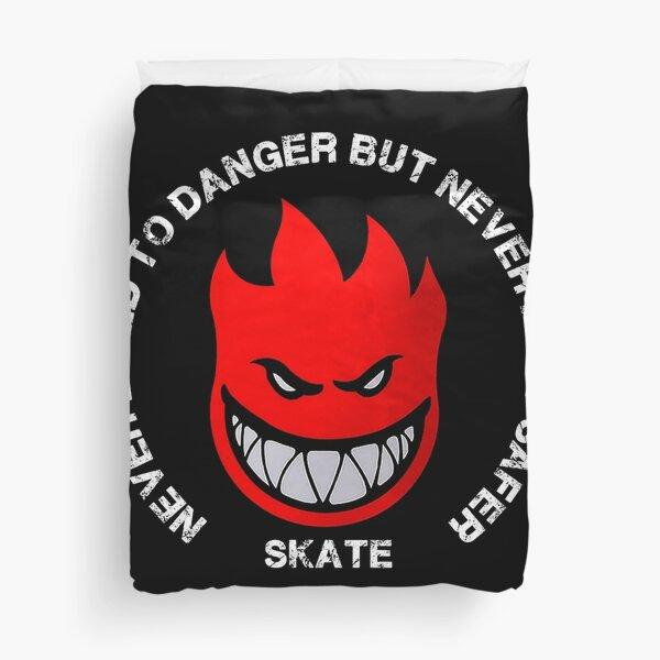 T-shirt de skate - T-shirt de patineur - Jamais vécu le danger mais jamais senti plus sûr t-shirt - Patineur Housse de couette