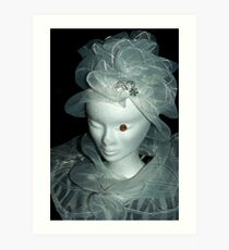 Tulle hats and collars 1 Art Print