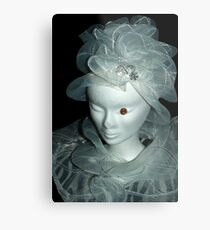 Tulle hats and collars 1 Metal Print