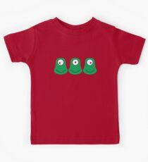 3 cute aliens looking each way Kids Clothes