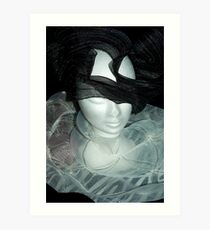 Tulle hats and collars 2 Art Print