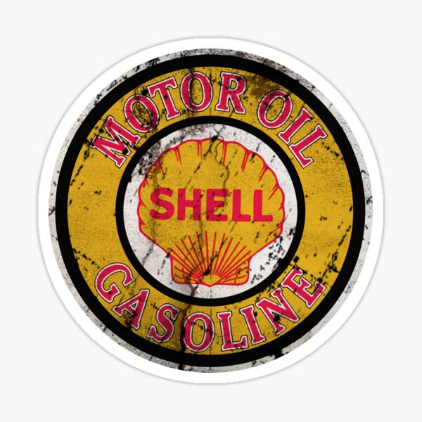 Motor Oil Gasoline Sticker