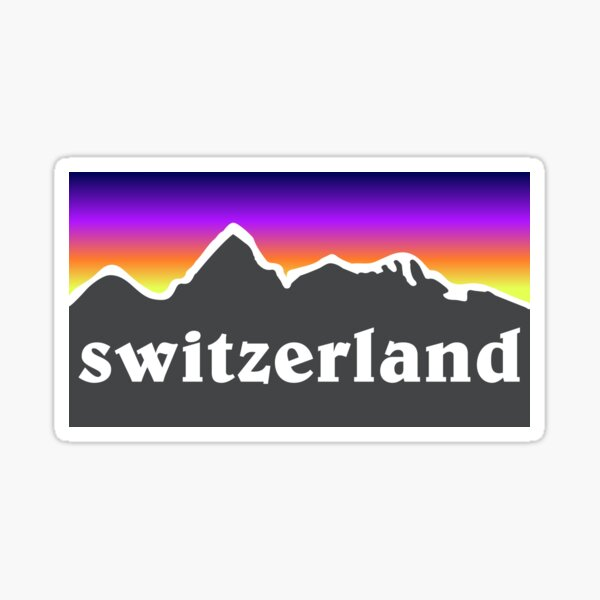 Schweiz Berg Ski Snowboard Matterhorn See Wandern Angeln Radfahren Geschenkideen Sticker