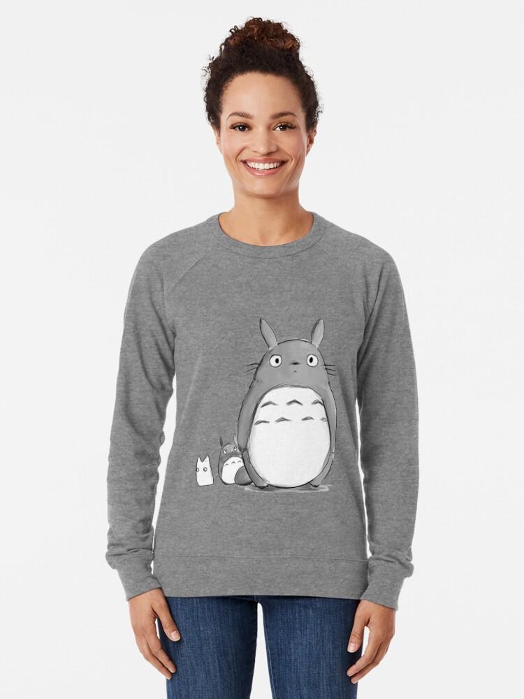 Vista alternativa de Sudadera ligera Totoro y Sprite
