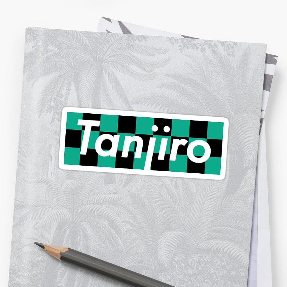 """Demon Slayer - Tanjiro Box Logo"" Sticker by Gohan64 ..."