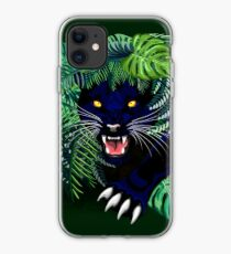Black Panther Spirit coming out from the Jungle iPhone Case