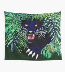 Black Panther Spirit coming out from the Jungle Wall Tapestry