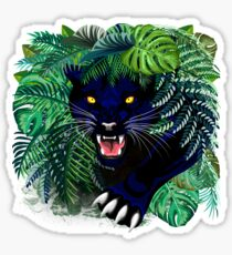 Black Panther Spirit coming out from the Jungle Sticker