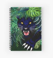 Black Panther Spirit coming out from the Jungle Spiral Notebook