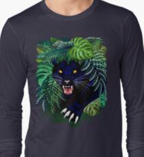 Black Panther Spirit coming out from the Jungle Long Sleeve T-Shirt