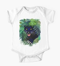 Black Panther Spirit coming out from the Jungle Short Sleeve Baby One-Piece