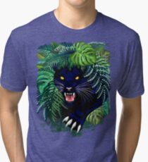 Black Panther Spirit coming out from the Jungle Tri-blend T-Shirt