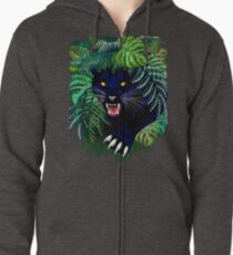 Black Panther Spirit coming out from the Jungle Zipped Hoodie